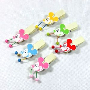 Wooden peg embellishments, 1.5cm x 2.5cm x 6cm, 6 pieces, (MJZ034)